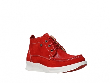 wolky lace up boots 05906 six 10570 red stretch nubuck_4