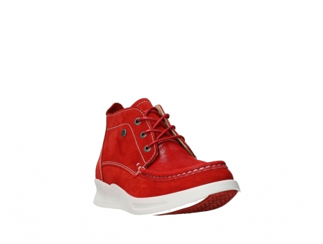 wolky lace up boots 05906 six 10570 red stretch nubuck_5