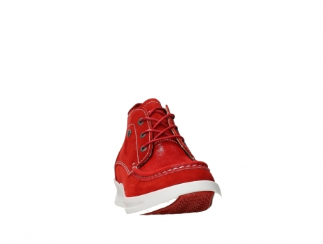 wolky lace up boots 05906 six 10570 red stretch nubuck_6