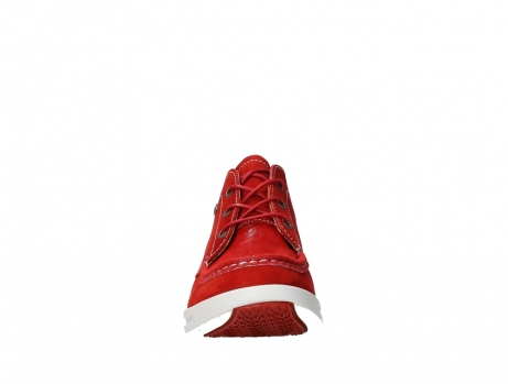 wolky lace up boots 05906 six 10570 red stretch nubuck_7