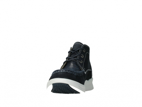 wolky lace up boots 05906 six 10870 blue nubuck_8